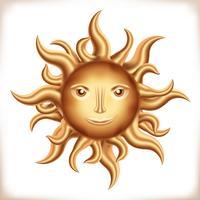 Goldene Sonne vektor