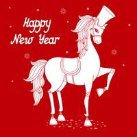 år av häst 2 vektor