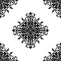 Dekorativ fraktal i arabisk eller muslimsk stil vektor