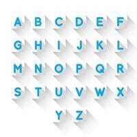 Alfabetbokstäver vektor