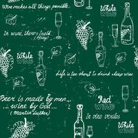 Nahtlose Wein Mustertafel vektor
