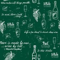 Sömlös vinmönster tavla