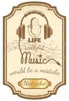 Retro levande musikaffisch vektor