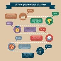 Vorlage für Infografiken für den Erfolg