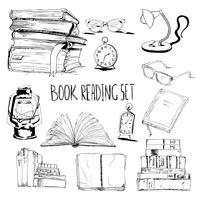 Böcker läsuppsättning vektor