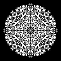 Dekoratives rundes Muster auf Schwarzem