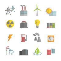 Ställ in ikoner i energikraften