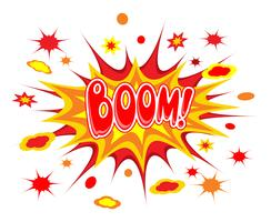 Boom-Comics-Symbol vektor