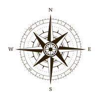 Kompasswind stieg vektor