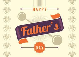 Grattis på fader dagkort. vektor