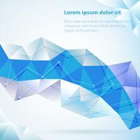 Blauer abstrakter geometrischer Hintergrund