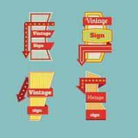 Vintage Neon Sign Vorlage vektor