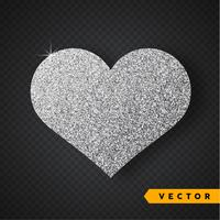 Vektorsilber funkelt Herz