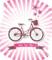 Fahren Sie mit Ihrem Fahrrad-Banner