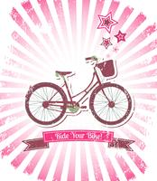 Rid din cykel banner vektor