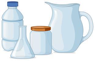 Verschiedene Arten von Behältern vektor