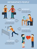 People Relations Infografiken Elemente vektor