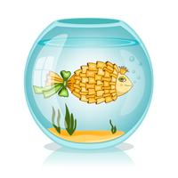 Guldfisk i skålen