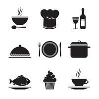 Sammlung von Restaurantgestaltungselementen