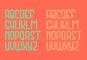 Retro alfabetvektor