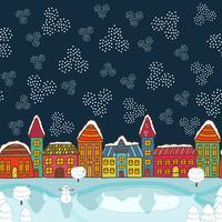 Weihnachtshaus Hintergrund vektor