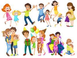 Lyckliga familjer vektor