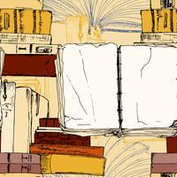 Nahtloses Hintergrund des offenen Buches