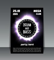Trommel- und Bass-Party-Flyer
