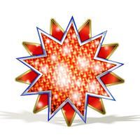 magisk röd stjärna vektor