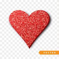 Rot funkelt Herz