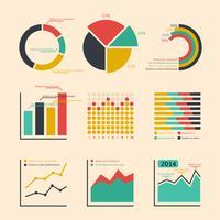Grafer och diagram i företagsgrader vektor