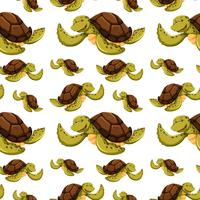 Sömlös bakgrund med sköldpaddor vektor