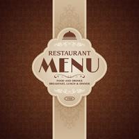 Restaurang café meny broschyr mall vektor