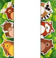 Banderollsmall med söta djur vektor
