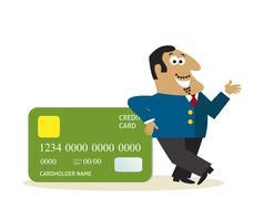 Affärsman med kreditkort vektor