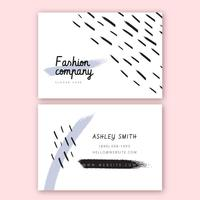 Mode Visitenkarte Vorlage