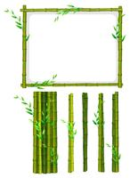 Bambusrahmen und Bambusstöcke vektor