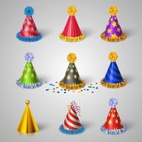 fest hatt ikoner uppsättning vektor