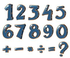 Numerische Figuren und mathematische Operationen vektor