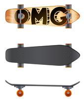 Ein Skateboard vektor