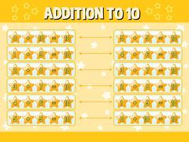 Ergänzung zu zehn mit gelben Sternen