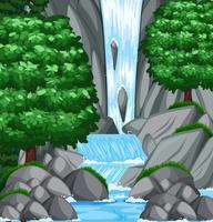 Hintergrundszene mit Wasser und Strom vektor