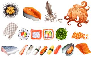 Sushi och skaldjur set