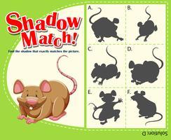 Spielvorlage mit passender Ratte vektor