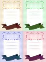 Papierschablone in vier Farben vektor