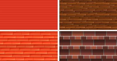Vier verschiedene Texturhintergründe