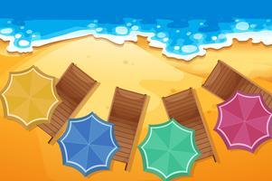 Scen med platser på stranden vektor
