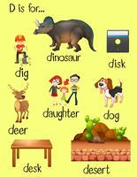 Många ord för bokstaven D