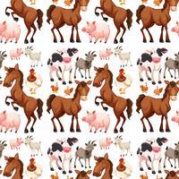 Nahtloser Hintergrund mit Vieh vektor
