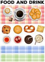 Verschiedene Speisen und Getränke